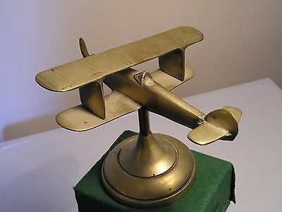 Brass Trench Art Model of a Hawker Fury?? Biplane Fighter Aircraft  2lb 6oz
