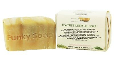 1 piece Tea Tree & Neem Oil Soap Bar 100% Natural Handmade 120g