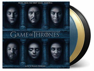 Game of Thrones Season 6 Coloured Limited Blue Gold Vinyl LP Soundtrack Music