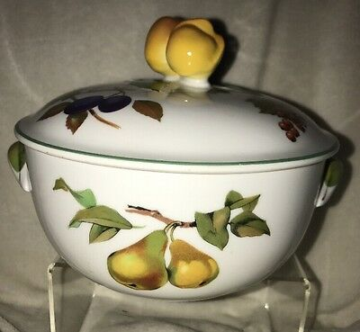EVESHAM VALE Casserole Dish w Lid Royal Worcester fruit pear