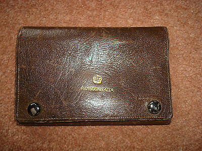 "Vintage Leather Wallet With ""rangoonwalla"" Together With A Crown On The Front"