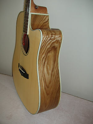 Tanglewood Premier Exotic Ash. TPE SFCE AS Electro Acoustic Guitar & Hard Case