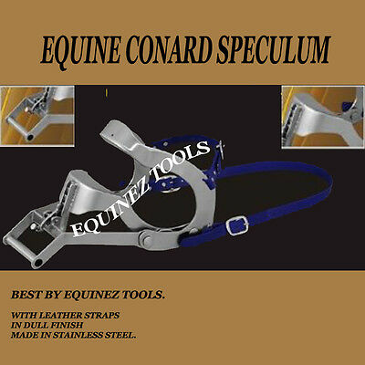 Equine Dental Conard Speculum Horse Mouth Gag Stainles Steel Leather Draft Horse