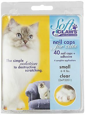Soft Claws Feline Cat Nail Caps Take-Home Kit, Small, Clear