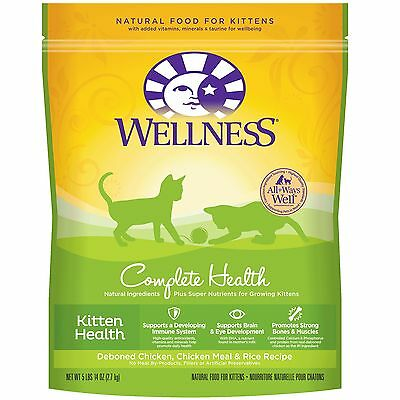 Wellness Complete Health Natural Dry Kitten Food, Chicken & Rice, 5.9-Pound Bag