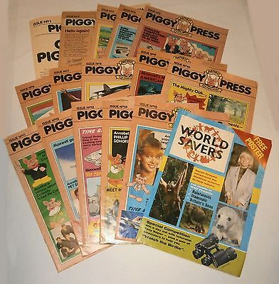 Natwest Pigs Piggy Press Magazines Full Set Issues 1-15 & Poster Good Condition