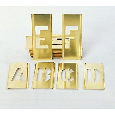 "1 1/2"" NewBrass 45pc Letter Number Stencils Military"