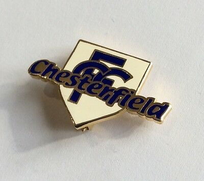 CHESTERFIELD Football Club Badge FC. Enamel CFC Supporters SHIELD (PIN BACK) 1