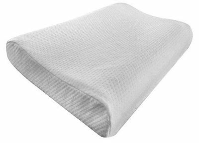 Contour Memory Foam Pillow - Comfortable Optimum Neck & Head Support - 30 x 50cm