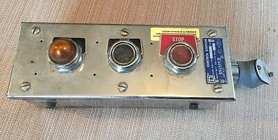 Square D Control Station W/ Start Stop Switch & Light Class 9001 KYC-3 Series A