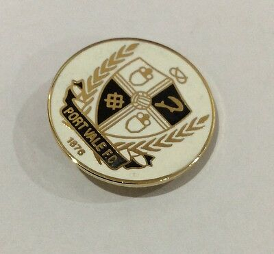 PORT VALE Football Club Badge FC Enamel Supporters Pin