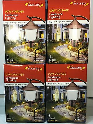Great 4 X Malibu Low Voltage Landscape Lighting Metal Garden Light  CL804BSB14Malibu Intermatic Plug In Low Voltage Transformer Model LV341T