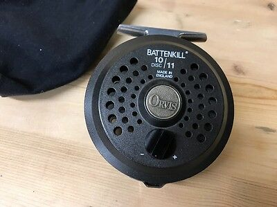 Fly Reel Orvis Battenkill 10/11 Salmon Game Fishing Quality Made In England