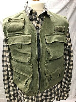 Vintage Fly Fishing Vest Dermot Wilson Nether Wallop Tackle Made In England