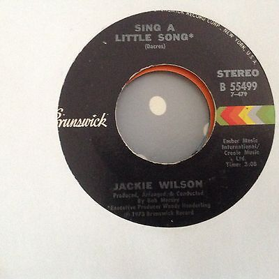 Jackie Wilson-Let This Be A Letter/didn't I-Brunswick Promo 55435 . Ex