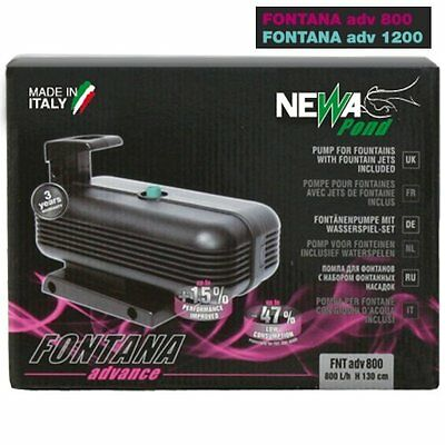 NEWA Fontana ADV Advance Pond Fountain Waterfall Pump Water Jets Ornamental