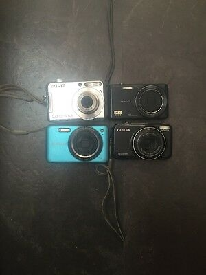 Lot Of 4 Untested Or For Parts Cameras Olympus Sony Samsung Fujifilm Digital