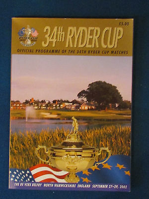Ryder Cup 2002 Programme - Held at The Belfry - 154 pages