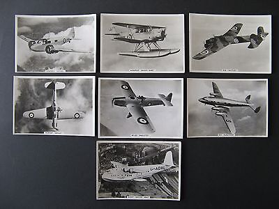 Cigarette Cards. Ardath - Real Photographs Of Modern Aircraft 1939. 13 Cards.