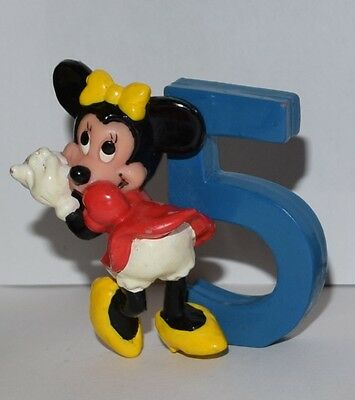 Minnie Mouse Number #5 Five Cake Topper PVC Toy Figure Disney