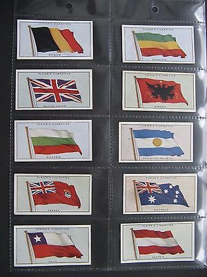 Cigarette Cards. John Player - Flags Of The League Of Nations 1928. Full Set