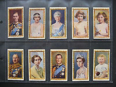 Cigarette Cards. J. Wix - Kensitas - Coronation 1937. Full Set In Sleeves.