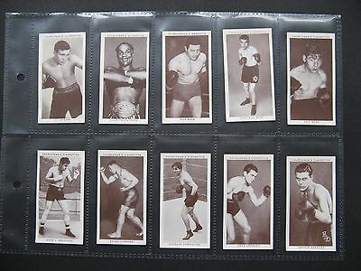 Cigarette Cards. Churchman - Boxing Personalities 1938. Full Set In Sleeves.
