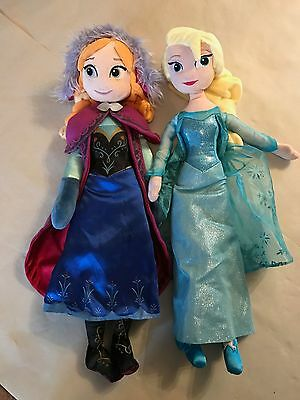 "20"" official Disney Store Anna and Elsa soft toys. Not copies"