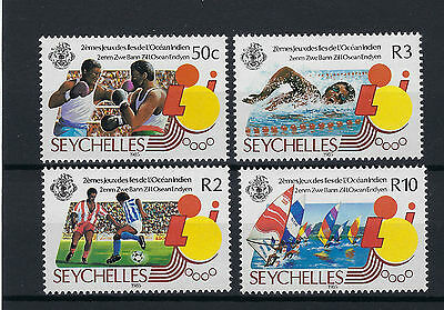 Seychelles 572-575 Mnh Stamp Set 1985 Sports Indian Ocean Island Games Set Of 4.