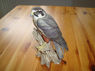 """Peregrine Falcon - Hand Painted China Bird Sculpture Ornament by Maruri  6"""""""