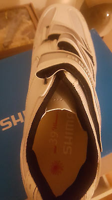 Ladies white Shimano cycling shoes size 6