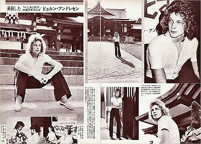 BJORN ANDRESEN in Japan 1971 JPN PICTURE CLIPPINGS 2-Sheets #MB/P