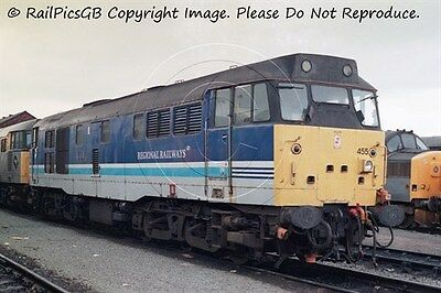 Colour Photo of BR Class 31 Diesel Loco 31455 at Arpley 1995