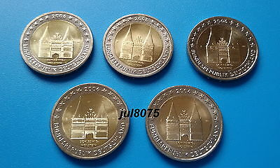 2 euro comm Allemagne 2006 Holstentor les 5 ateliers ADFGJ - NEUVES!!