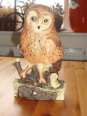 "Large Ceramic Owl Figurine Ornament 8""(20cm)"