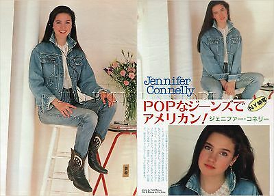 JENNIFER CONNELLY 1986 JPN PICTURE CLIPPINGS 2-Sheets(3-Pages) LABYRINTH #PG/N