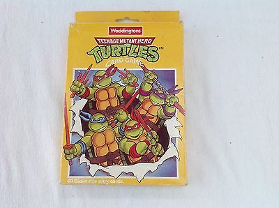 Vintage Waddington  Teenage Mutant Hero Turtles   Card Game   Complete