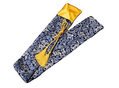 "53"" Chinese Blue Dragon Silk Sword Bag for Japanese Samurai Sword Katana QD1"
