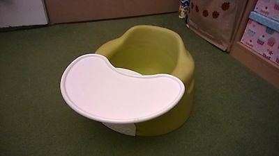 Baby Bumbo seat chair green with tray
