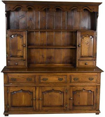Antique Style Solid Oak Welsh Dresser Plate Rack Kitchen Hutch Dining Room