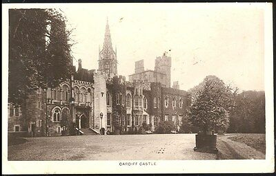 Vintage Pc- Cardiff Castle By Grosvenor Series Posted 1921