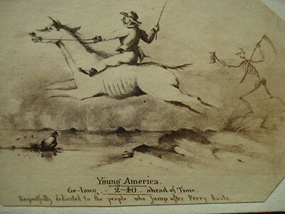 Civil War Era CDV Young America Jumping ahead of Time!
