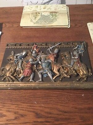 Vintage Marcus Wall Plaque - Battle of Evesham 1265 Used Odd Chip See Photos