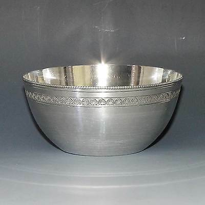 Very Fine Heavy Quality Vintage Art Deco Egyptian Silver Bowl Dish 1938 to 1939