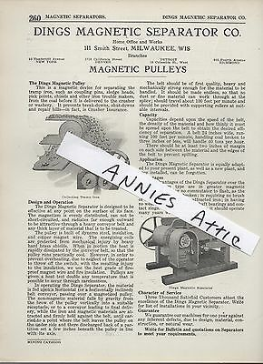 1920 Ad DINGS MAGNETIC SEPARATOR COMPANY  Milwaukee WI Pulleys mining coal mine