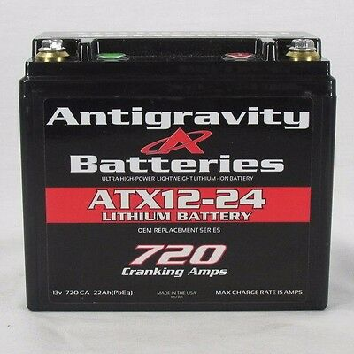 Antigravity ATX12-24 RIGHT SIDE POSITIVE OEM YTX12 720CCA Lithium Ion Battery