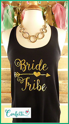 NEW Sample sale READY TO SHIP size MEDIUM black bride tribe tank top black gold