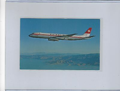 Swissair airlines issued DC-8-62  postcard