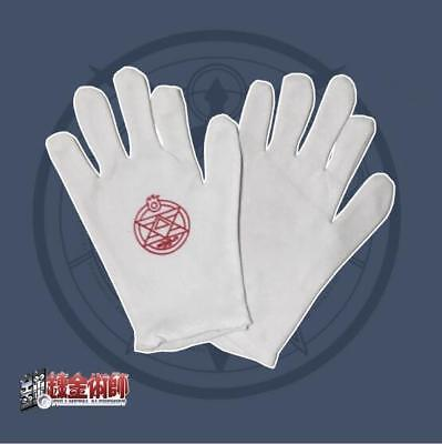 NEW Fullmetal Alchemist Colonel Roy Mustang Edward Elric Cosplay Gloves One Size