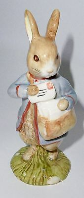 Beatrix Potter Figurine - Peter with Postbag - Perfect Condition